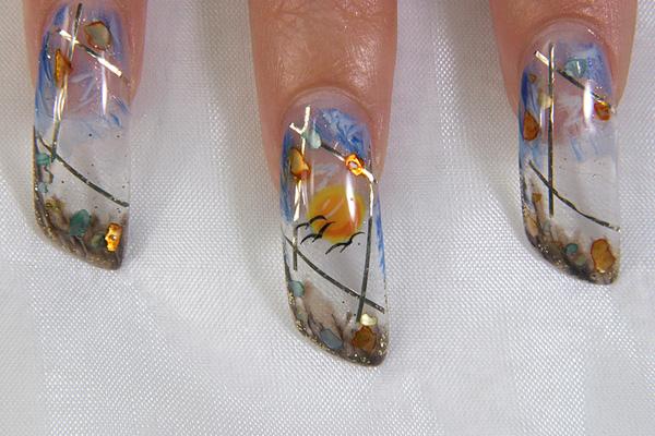 Дизайн ногтей море