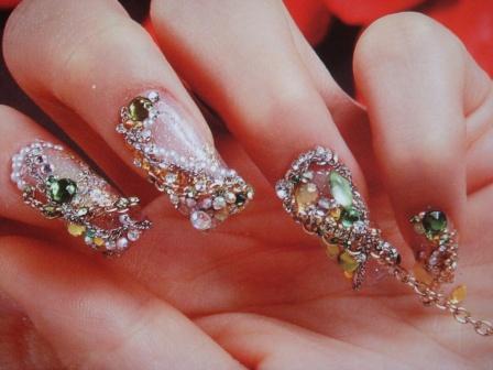 Дизайн ногтей в стиле гламур